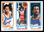 1980 Topps   -  Alex English / Moses Malone / Winford Boynes 75 / 102 / 64 Front Thumbnail