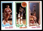 1980 Topps   -  Rick Barry / Sam Lacey / Kenny Carr 105 / 123 / 54 Front Thumbnail