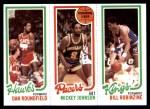 1980 Topps   -  Dan Roundfield / Mickey Johnson / Bill Robinzine 29 / 113 / 130 Front Thumbnail