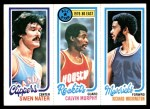 1980 Topps   -  Swen Nater / Calvin Murphy / Richard Washington 219 / 17 / 70 Front Thumbnail