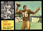 1962 Topps #164  Norm Snead  Front Thumbnail