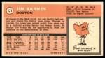 1970 Topps #121  Jim Barnes   Back Thumbnail
