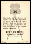 1964 Topps Beatles Movie #30   Getting Hair Combed Back Thumbnail