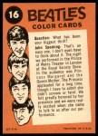 1964 Topps Beatles Color #16   Ringo/Paul with John speaking Back Thumbnail