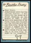 1964 Topps Beatles Diary #32 A George Harrison  Back Thumbnail