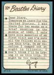 1964 Topps Beatles Diary #32 A George Harrison  Back Thumbnail