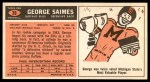 1965 Topps #39  George Saimes  Back Thumbnail