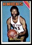 1975 Topps #179  Mel Davis  Front Thumbnail