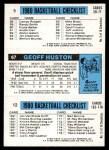 1980 Topps   -  Gus Williams / Geoff Huston / John Drew 12 / 67 / 5 Back Thumbnail