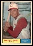 1961 Topps #378  Wally Post  Front Thumbnail