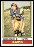 1974 Topps #370  Dave Elmendorf  Front Thumbnail