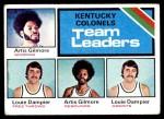 1975 Topps #280   -  Louie Dampier / Artis Gilmore Colonels Team Leaders Front Thumbnail