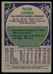 1975 Topps #243  Rich Jones  Back Thumbnail
