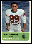 1962 Fleer #49  Bill Groman  Front Thumbnail