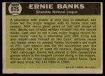 1961 Topps #575   -  Ernie Banks All-Star Back Thumbnail