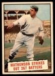 1961 Topps #408   -  Christy Mathewson Baseball Thrills Front Thumbnail