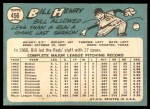 1965 Topps #456  Bill Henry  Back Thumbnail
