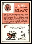 1966 Topps #22  Tom Day  Back Thumbnail