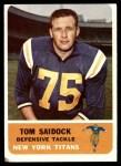 1962 Fleer #66  Tom Saidock  Front Thumbnail