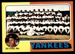 1975 Topps #611   -  Bill Virdon Yankees Team Checklist Front Thumbnail