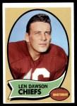 1970 Topps #1  Len Dawson  Front Thumbnail