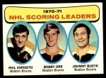 1971 Topps #3   -  Phil Esposito / Johnny Bucyk / Bobby Orr Scoring Leaders Front Thumbnail