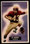 1955 Bowman #133  Vic Janowicz  Front Thumbnail