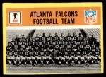 1967 Philadelphia #1   Atlanta Falcons Team Front Thumbnail
