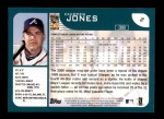 2001 Topps #2  Chipper Jones  Back Thumbnail
