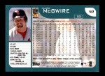 2001 Topps #50  Mark McGwire  Back Thumbnail