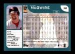 2001 Topps #50  Mark McGwire  Back Thumbnail