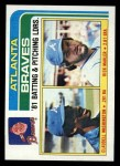 1982 Topps #126   -  Claudell Washington / Rick Mahler Braves Leaders Front Thumbnail
