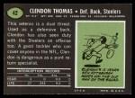 1969 Topps #42  Clendon Thomas  Back Thumbnail