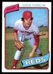 1980 Topps #126  Dave Tomlin  Front Thumbnail