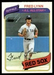 1980 Topps #110  Fred Lynn    Front Thumbnail