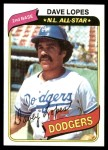1980 Topps #560  Dave Lopes  Front Thumbnail