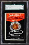 1957 Topps   Lucky Penny Card Front Thumbnail