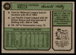 1974 Topps #46  Pat Kelly  Back Thumbnail