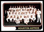 1974 Topps #154   Astros Team Front Thumbnail