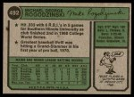 1974 Topps #492  Mike Rogodzinski  Back Thumbnail