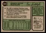 1974 Topps #584  Ken Rudolph  Back Thumbnail