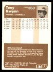 1983 Fleer #360  Tony Gwynn  Back Thumbnail
