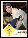 1963 Fleer #42  Sandy Koufax  Front Thumbnail