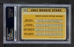 1963 Topps #553   -  Willie Stargell / Jim Gosger / Brock Davis / John Herrnstein Rookie Stars Back Thumbnail
