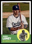 2012 Topps Heritage #105  James Loney  Front Thumbnail