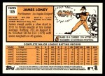 2012 Topps Heritage #105  James Loney  Back Thumbnail