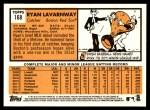 2012 Topps Heritage #168  Ryan Lavarnway  Back Thumbnail