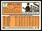 2012 Topps Heritage #332  Jorge De La Rosa  Back Thumbnail