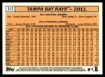 2012 Topps Heritage #312   Rays Team Back Thumbnail