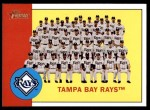 2012 Topps Heritage #312   Rays Team Front Thumbnail